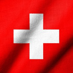 3D Flag of Switzerland waving