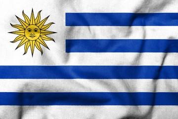 3D Flag of Uruguay
