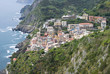 View of Riomaggiore, at the Cinque Terre in Italy