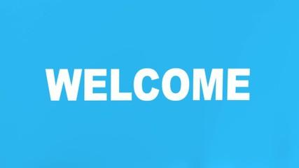 cortina bienvenida