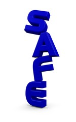 "3D ""safe"" word in blue color"