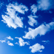 abstract clouds in the blue sky