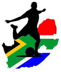 South Africa Footballer Silhouette