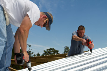 Construction Roofing Crew