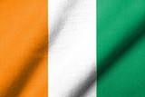 3D Flag of Cote d'Ivoire waving