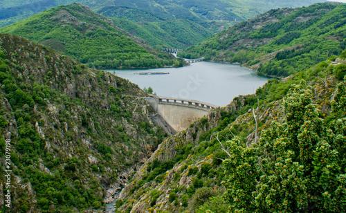 Foto op Canvas Dam barrage