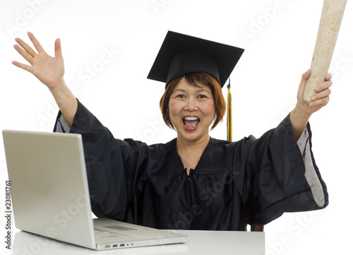 I got my degree on-line