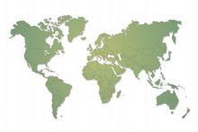 Carte du Monde et paga, vecteur