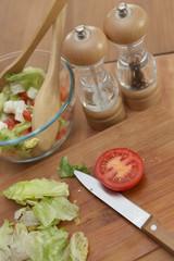Préparer une salade