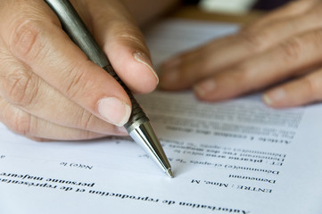 remplir un contrat