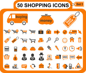 набор иконок о покупках