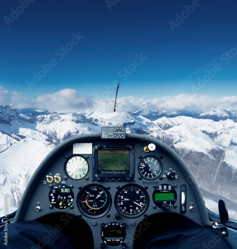 Glider over the alps - 23093753