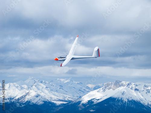 Leinwanddruck Bild Glider in the air