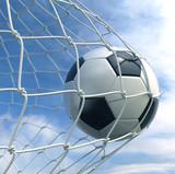 Soccerball in net - 23094117