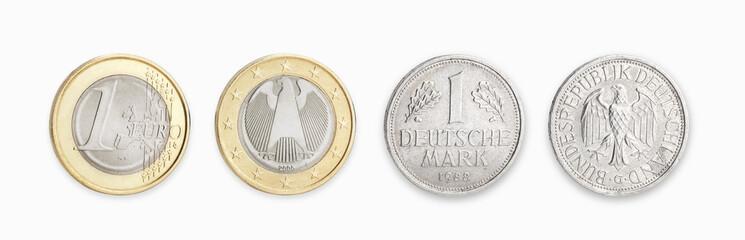 D Mark und Euro