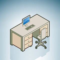 Office Desk with Chair
