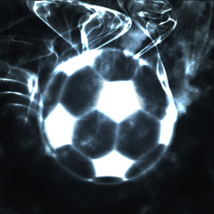 abstract ball in the smoke