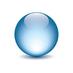 icona sfera luce blu