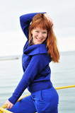 cheerful redheaded girl