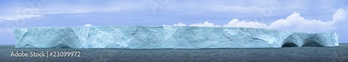 Antarctic ice island in atlantic ocean. Hi resolution 54 MP
