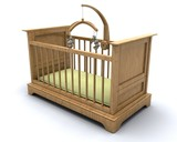 Cot for baby poster