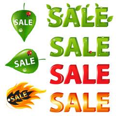 Big Sale Texts and discount elements