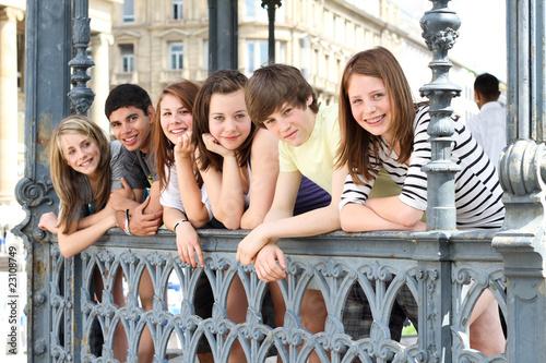 Poster Jugendliche in der City