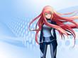 Leinwanddruck Bild - Futuristic anime girl