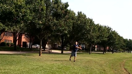 Dad Playing Ball with Kids