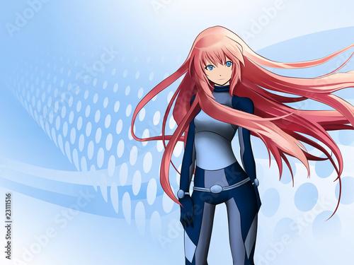 Leinwandbild Motiv Futuristic anime girl