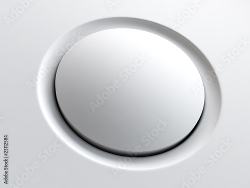 simple plastic round button of modern device or gadget