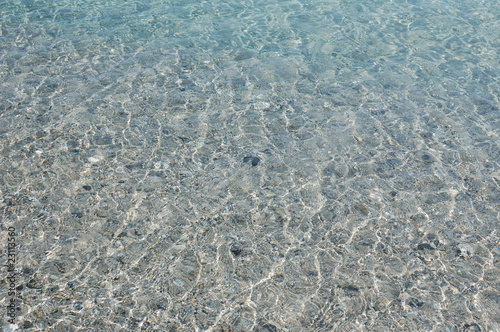 clean sea of sardinia island