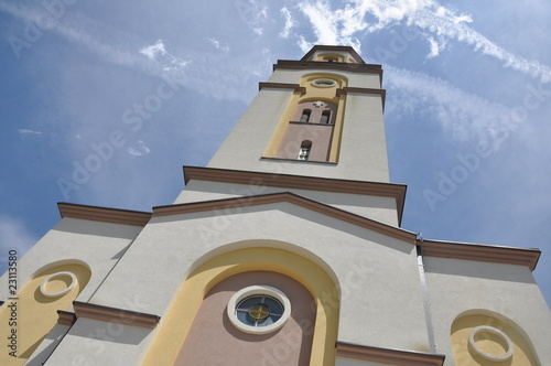 beautiful church with background of bue sky