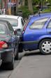 Car smash in the street