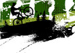 Mountain bike abstract background - 23115790
