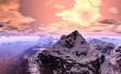 Fototapeten,landschaft,schnee,alpine,bergsteigen