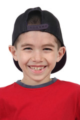 Photo of adorable young boy with hat