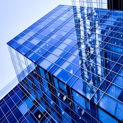 modern geometric skyscrapers