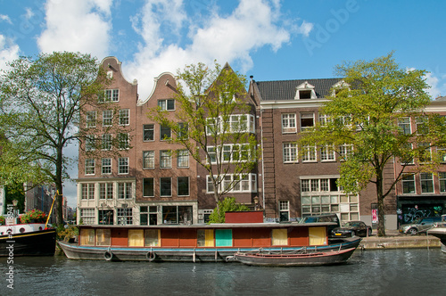 A channel in Amsterdam