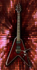 glam rock electric guitar