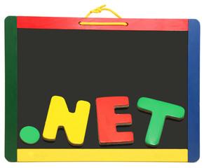 Top Level Domain Dot NET On Chalkboard