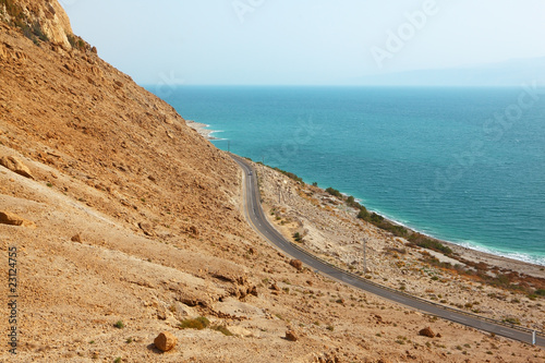 Picturesque road along the coast
