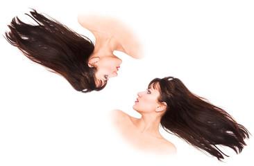 fluttering hair