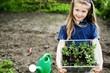 Girl with seedlings