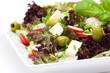 appetizing healthy salad on a plate