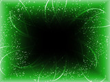 Infinite Perspective Green Stars Background. poster