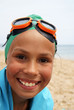 Preteen girl on sea beach