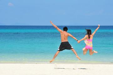 ่Jump on the beauty Beach