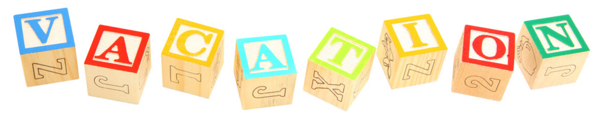 Alphabet Blocks VACATION