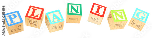 alphabet blocks Planing